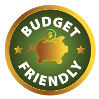 Budget friendly badge