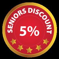 Seniors discount badge